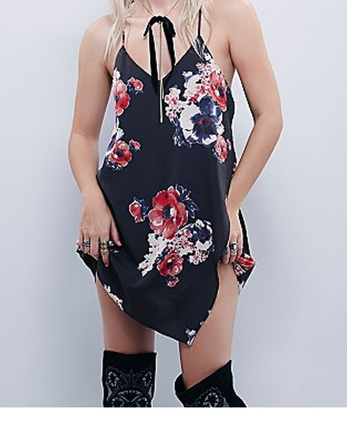 Printed Cascades Slip Dress by Free People in Flaked - Season 1 Preview