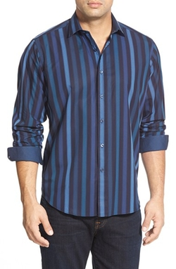Stripe Sport Shirt by Bugatchi in Nashville