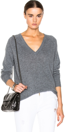 Asher Cashmere V Neck by Equipment in Quantico