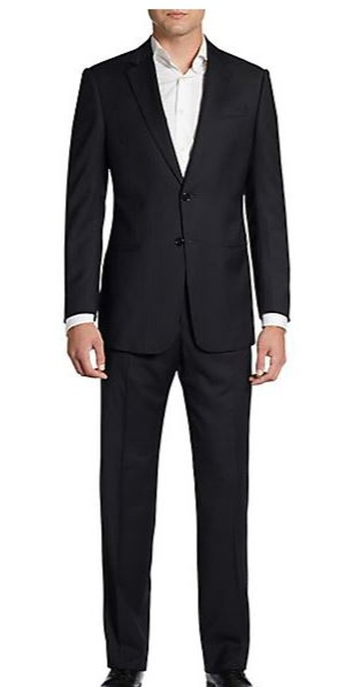 Classic-Fit Pinstripe Wool Suit by Armani Collezioni in The Loft