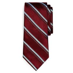 Satin Double Stripe Tie by Brooks Brothers in Scandal