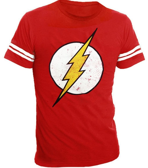 The Flash Distressed Logo T-Shirt by TV Store Online in The Big Bang Theory - Season 9 Episode 14