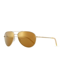 Benedict Mirror Aviator Sunglasses by Oliver Peoples	  in Keeping Up With The Kardashians