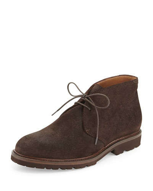 Waxed Suede Chukka Boots by Brunello Cucinelli	 in That Awkward Moment