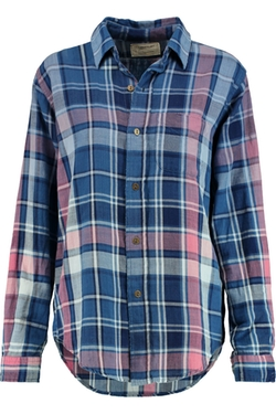 The Prep School Plaid Cotton Shirt by Current/Elliott in The Big Bang Theory