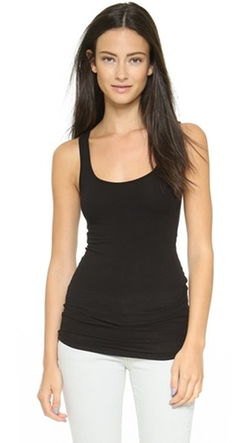 Brushed Jersey Long Tank Top by James Perse  in New Girl