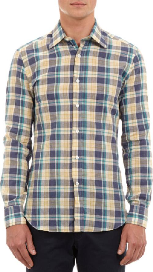 Madras Shirt by SALVATORE PICCOLO in Million Dollar Arm