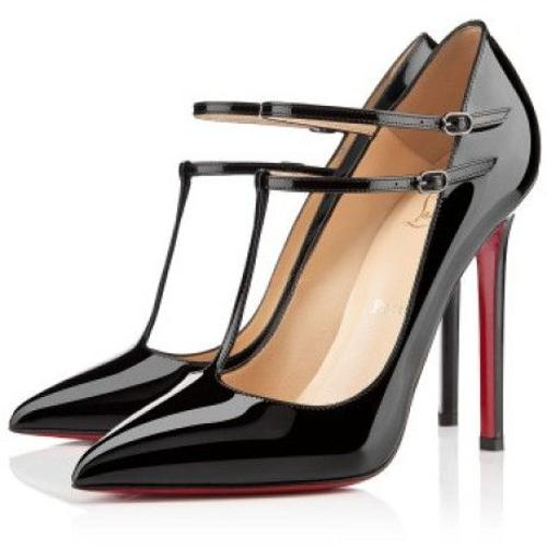 Black V-Neck Stiletto Heels by Christian Louboutin in The Other Woman