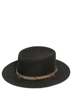 Felted Lapin Hat With Feathers Hatband by Saint Laurent in Sherlock Holmes: A Game of Shadows