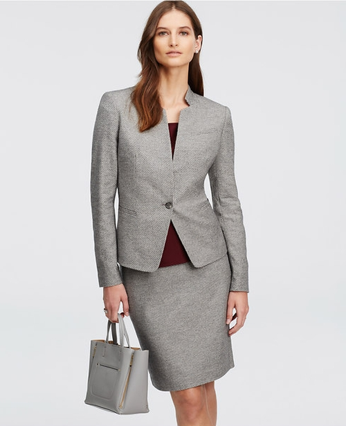 Geo Tweed Jacket by Ann Taylor in Billions - Season 1 Episode 5