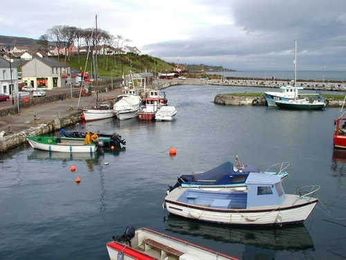 Carnlough Harbor (Depicted as Braavos) Larne, United Kingdom in Game of Thrones - Season 6 Episode 7 - The Broken Man