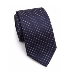 Printed Silk Tie by Armani Collezioni in Suits
