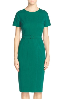 Belted Crepe Sheath Dress by Vince Camuto in The Flash