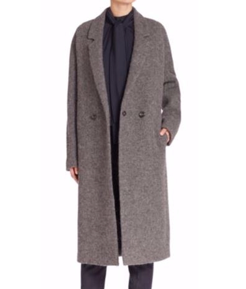 Notched Lapel Italian Wool Coat by Eleventy in Jason Bourne