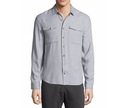 Utility-Pocket Long-Sleeve Shirt by ATM Anthony Thomas Melillo in Fist Fight