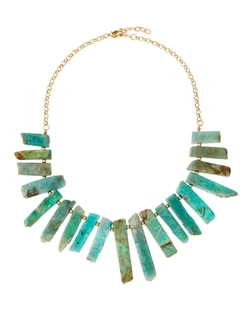 Graduated Amazonite Bar Bib Necklace by Panacea in Jem and the Holograms