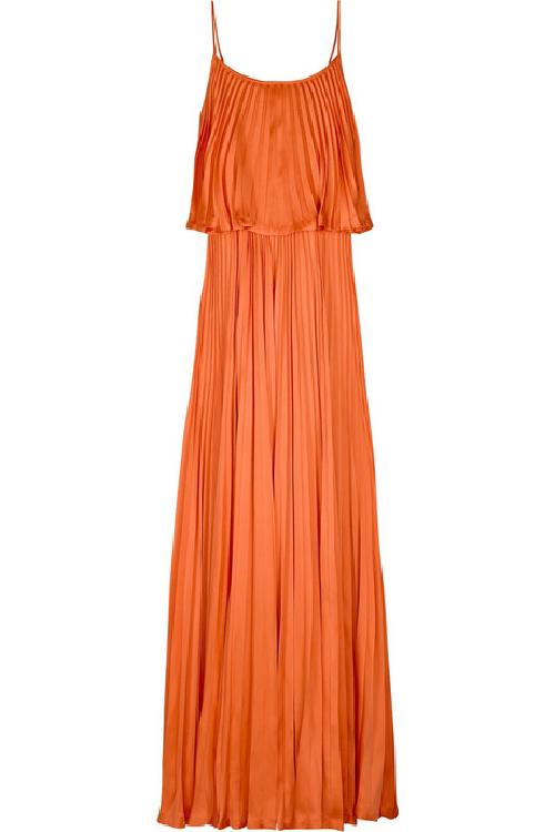Iconic Pleated Long Dress by Halston Heritage in Sex and the City 2