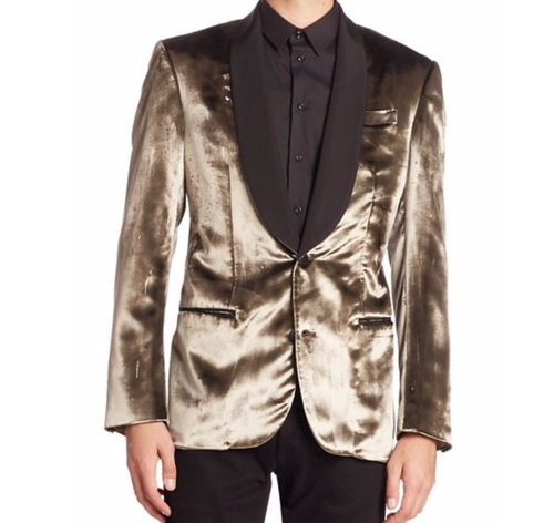 Metallic Button-Down Jacket by Bally in Suicide Squad