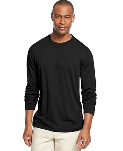 Long Sleeve Ribbed Slub T-Shirt by Tasso Elba in Straight Outta Compton