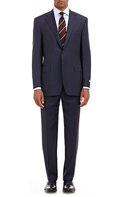 C Soft Striped Two-Button Suit by Canali in Elementary