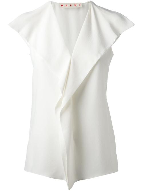 Spread Collar Blouse by Marni in Savages