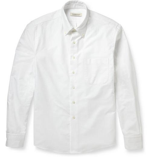 Button-Down Collar Cotton Oxford Shirt by RALEIGH DENIM in Dawn of the Planet of the Apes