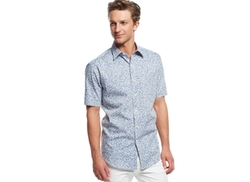 Short Sleeve Floral Shirt by Club Room in The Flash
