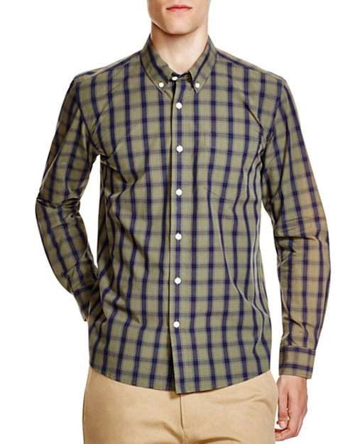 Crosby Check Regular Fit Button Down Shirt by Saturdays Surf NYC in Modern Family - Season 7 Episode 10