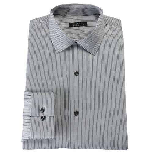 Slim-Fit Tonal-Striped Easy-Care Spread-Collar Dress Shirt by Marc Anthony in The Dark Knight Rises