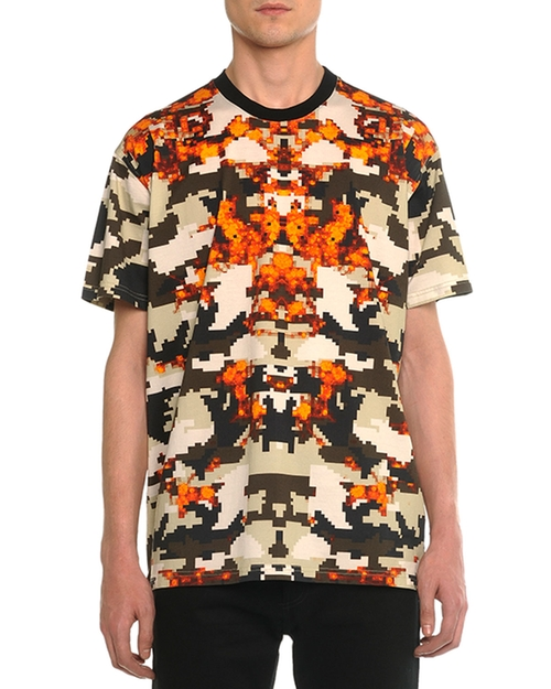 Columbian Camo-Print Tee by Givenchy in Empire