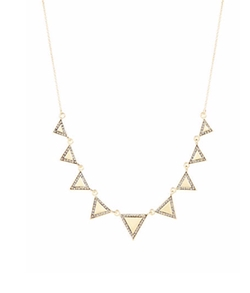 Statement Necklace With Small Triangle Accents by House Of Harlow 1960 in Unbreakable Kimmy Schmidt