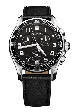 Chrono Classic Leather Strap Watch by Victorinox Swiss Army in John Wick