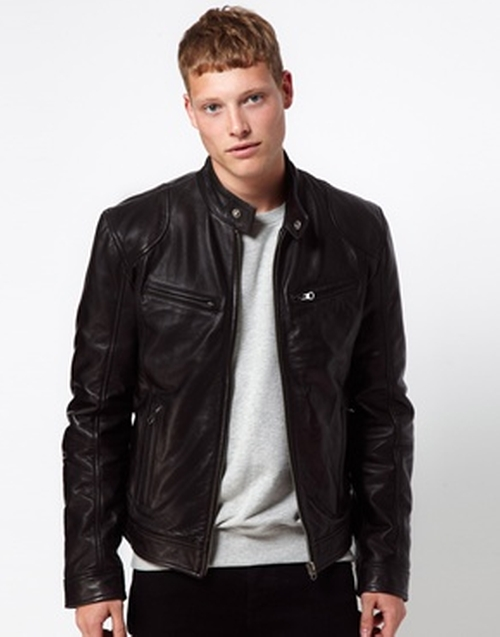 Leather Jacket Biker by Barney's in Transformers: Age of Extinction
