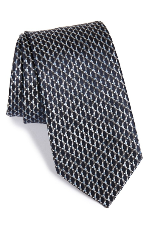 Geometric Print Silk Tie by Brioni in Suits - Season 5 Episode 4