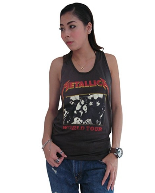 Metallica Concert World Tour Tank Top by Bunny Brand in The Fate of the Furious