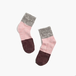 Marled Colorblock Ankle Socks by Madewell in Supergirl
