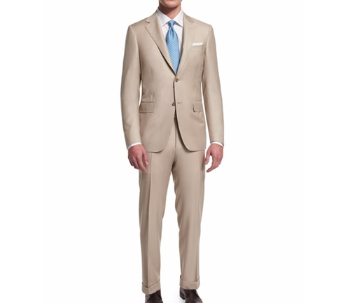 Sienna Contemporary-Fit Solid Two-Piece Suit by Canali  in Ballers - Season 2 Episode 2