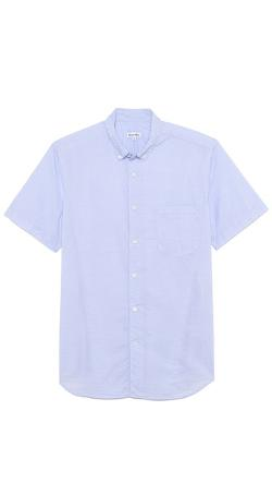 Striped Short Sleeve Shirt by Steven Alan in Pain & Gain