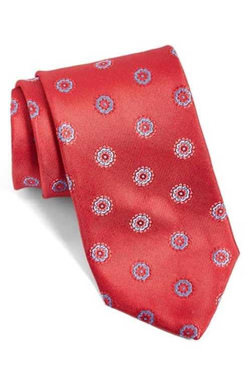 Medallion Silk Tie by Canali in The Blacklist - Season 3 Episode 3