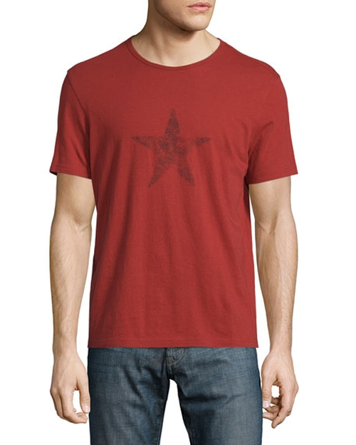 Faded Star-Graphic T-Shirt by John Varvatos Star USA in Bleed for This