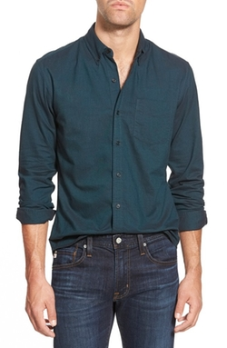 Slim Fit Oxford Long Sleeve Sport Shirt by Bonobos in How To Get Away With Murder