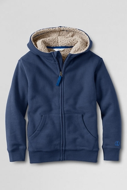 Fleece Sherpa Hoodie by Lands' End in 99 Homes