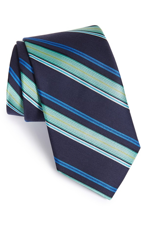 'Ground Stripe' Silk & Cotton Tie by Ted Baker London in The Walk