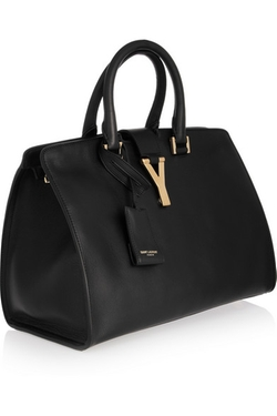 Cabas Y Leather Tote Bag by Saint Laurent in Suits