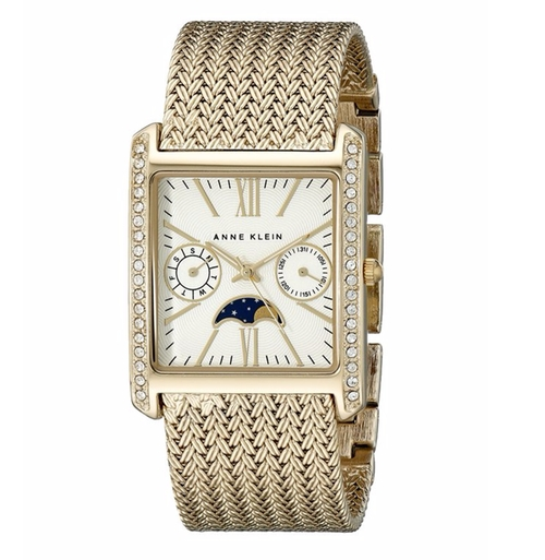 Women's Swarovski Crystal-Accented Rectangular Watch by Anne Klein in Imaginary Mary