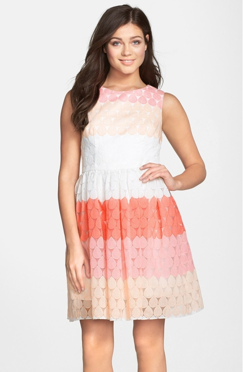 Stripe Embroidered Fit & Flare Dress by Betsey Johnson in Mike and Dave Need Wedding Dates