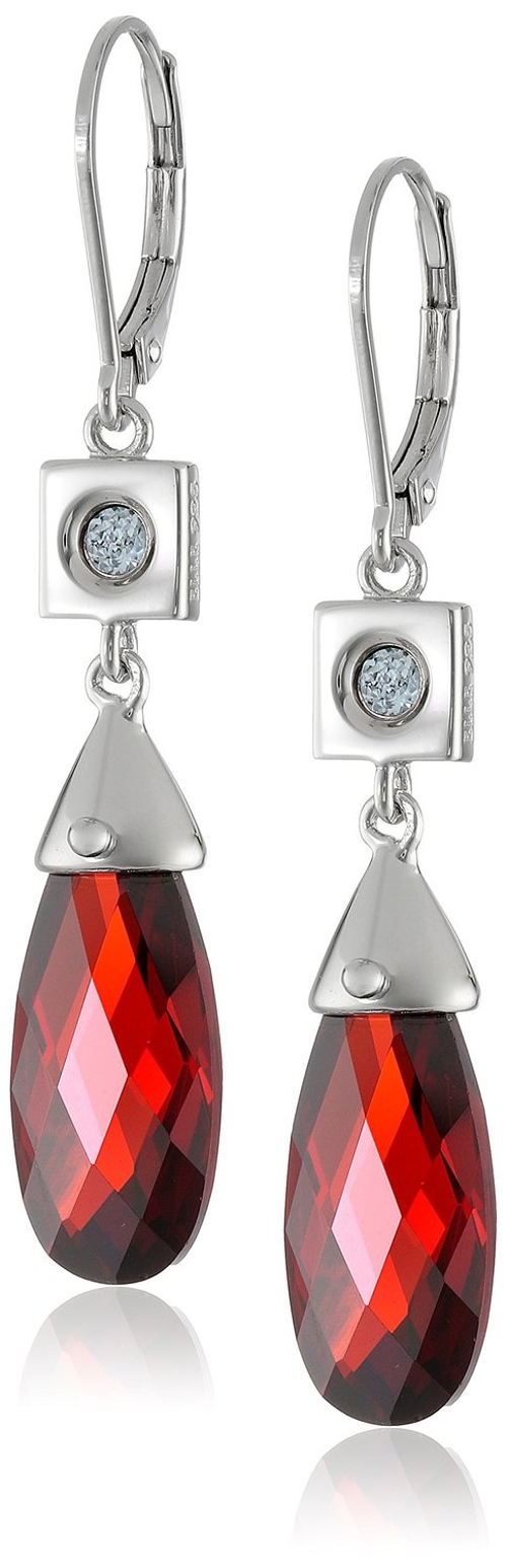 Garnet Cubic Zirconia Earrings by Elle Jewelry in Sex and the City 2