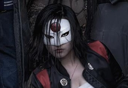 Custom Made Kabuki-Style Mask by Kate Hawley (Costume Designer) in Suicide Squad
