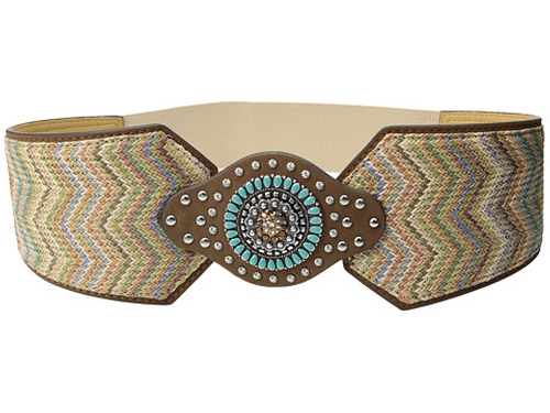 Nocona Wide Chevron Belt by M&F Western in Confessions of a Shopaholic