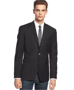 Slim-Fit Black Blazer by Bar III in Hall Pass